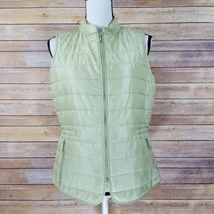 Lafayette 148 S SMALL Quilted Pale Green Vest